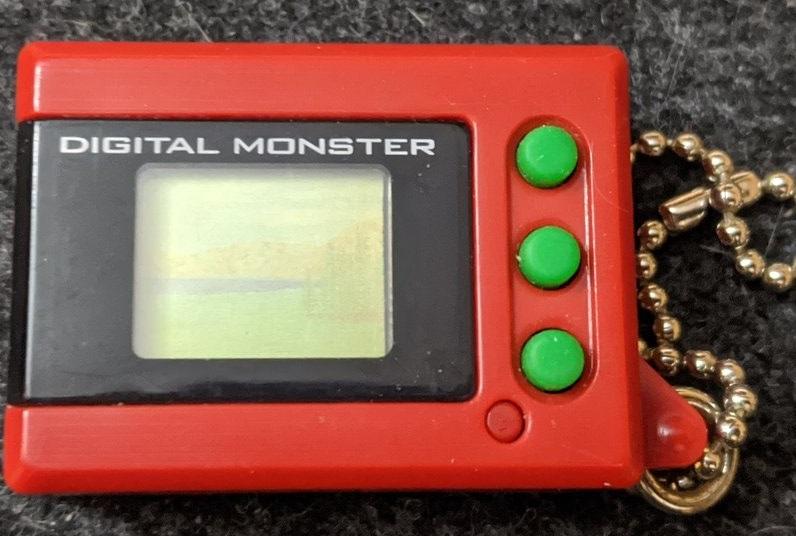 Digimon Digital Monster Mini Shells V1 red